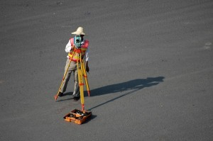 land surveying process